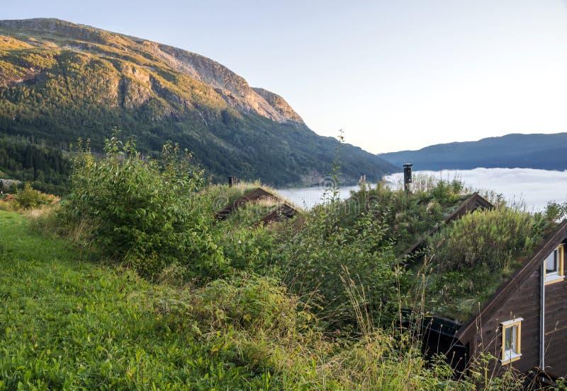 Coucher du soleil en Norvège photographie stock