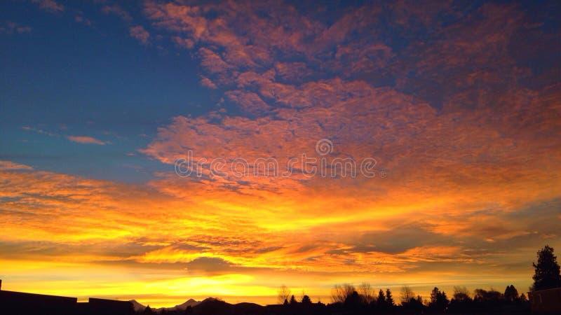 Coucher du soleil en Orégon photographie stock