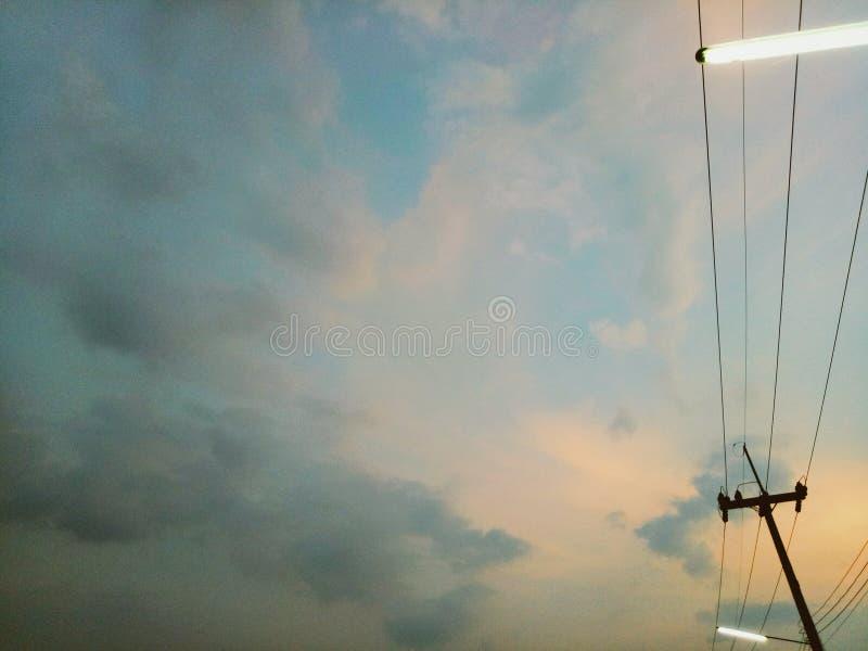 Coucher du soleil en Thaïlande images libres de droits