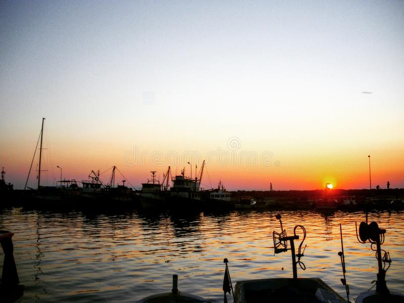 Coucher du soleil en Turquie image stock