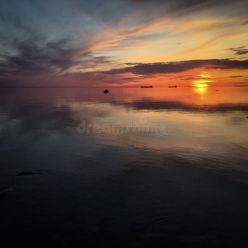 Coucher du soleil estonien photos libres de droits
