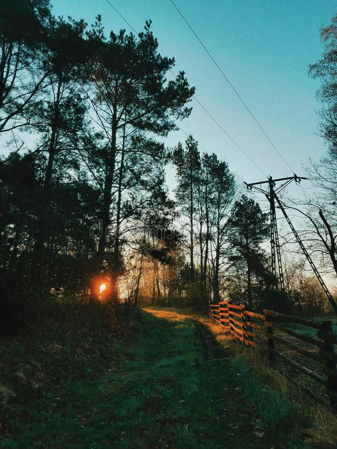 coucher du soleil extérieur images stock