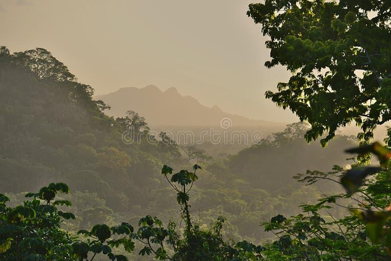 Coucher du soleil flou de Belize photo libre de droits