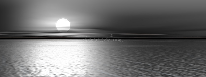 Coucher du soleil gris panoramique illustration de vecteur