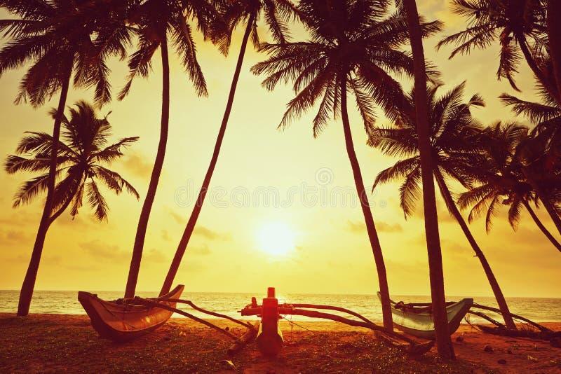 Coucher du soleil idyllique image stock