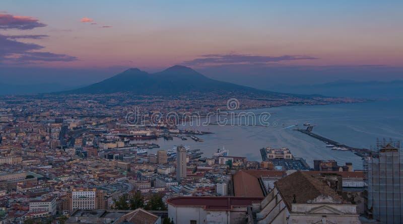 Coucher du soleil II de Naples photos stock