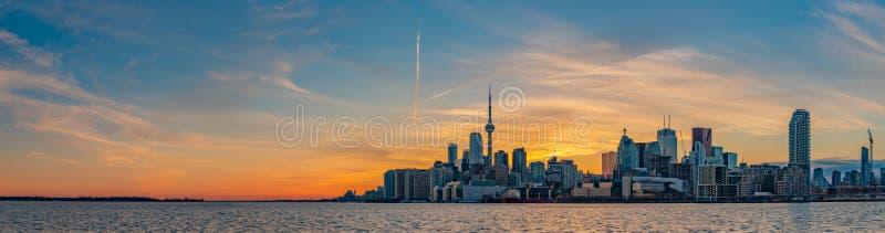 Coucher du soleil II de Toronto photo libre de droits