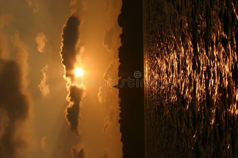 Coucher du soleil-Istanbul image libre de droits