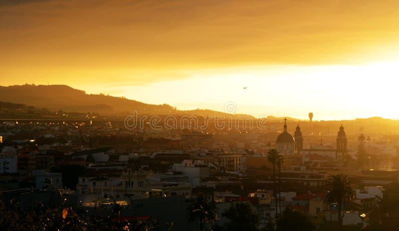 Coucher du soleil La Laguna images stock