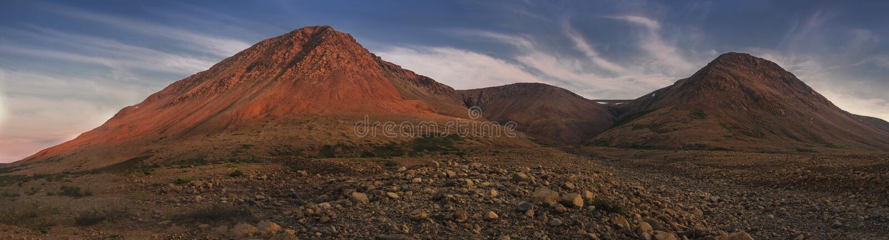 Coucher du soleil, les plateaux, Gros Morne National Park, Terre-Neuve et images stock