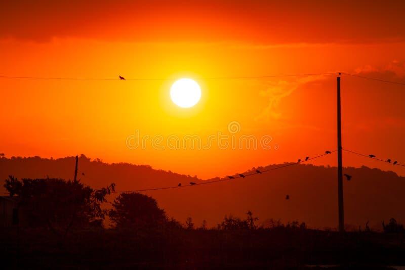 Coucher du soleil magique image stock