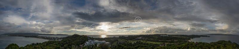 Coucher du soleil Malaisie photographie stock
