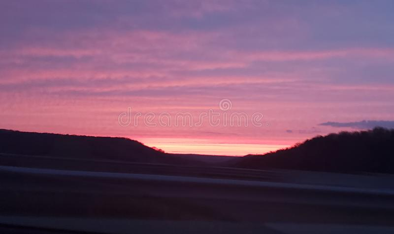 Coucher du soleil du Missouri image libre de droits