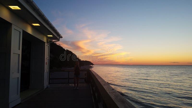 coucher du soleil moderne photographie stock