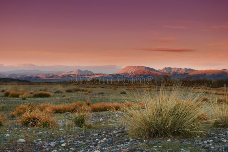 Coucher du soleil mongol photographie stock
