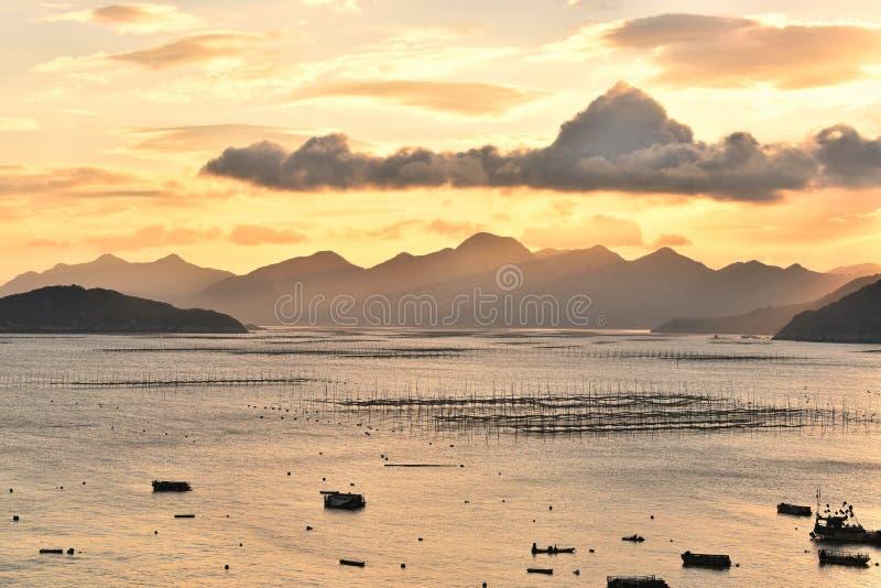 Coucher du soleil Mudflat images libres de droits