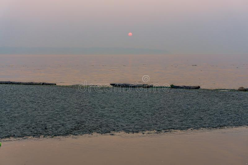 Coucher du soleil du nord-ouest flou 4 photographie stock