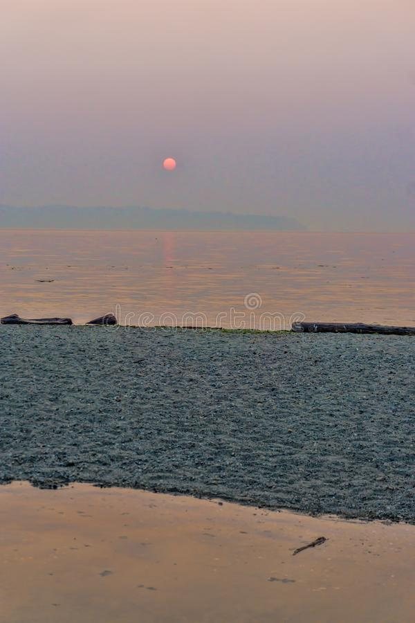 Coucher du soleil du nord-ouest flou 3 photographie stock libre de droits