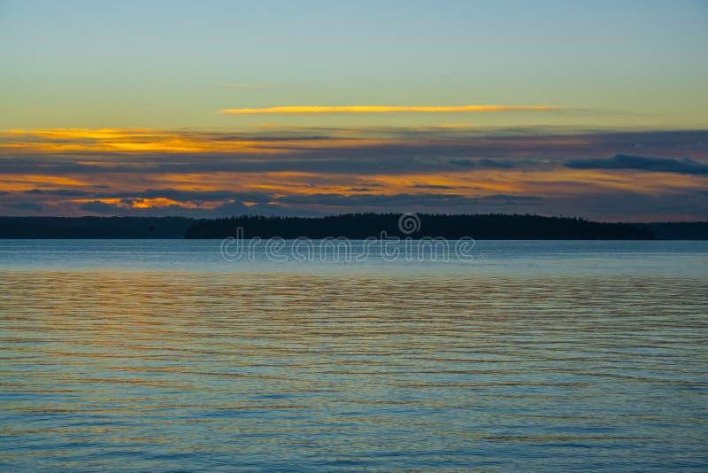 Coucher du soleil du nord-ouest flou 2 image libre de droits