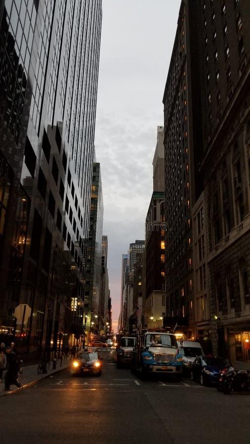 Coucher du soleil NYC photo stock