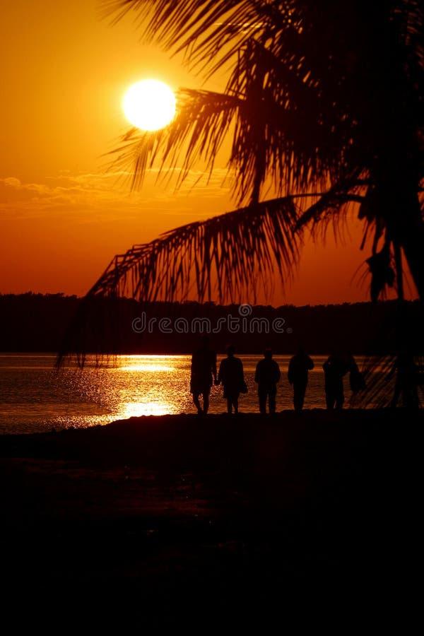 Coucher du soleil orange images libres de droits