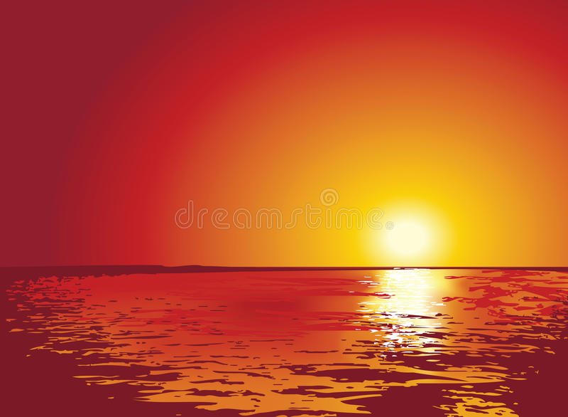 Coucher du soleil ou lever de soleil sur la mer - Fond ecran coucher de soleil sur la mer ...