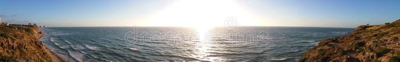Coucher du soleil panoramique images libres de droits