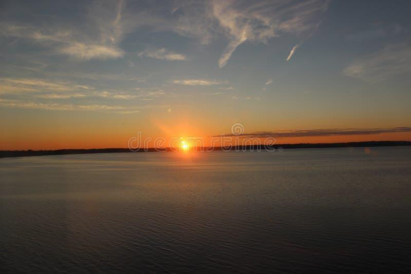 Coucher du soleil polarisé photos libres de droits
