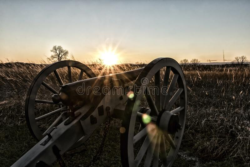 Coucher du soleil puissant photographie stock