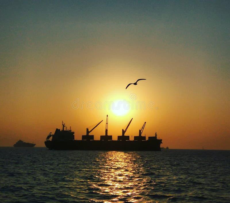 Coucher du soleil renversant ! photo stock
