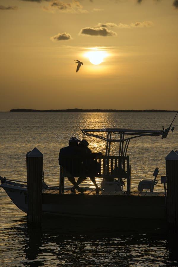Coucher du soleil romantique photographie stock libre de droits