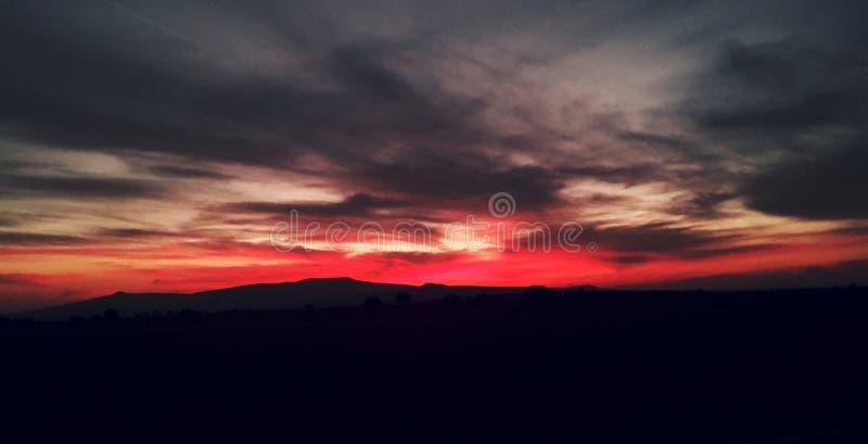 Coucher du soleil rose photos libres de droits