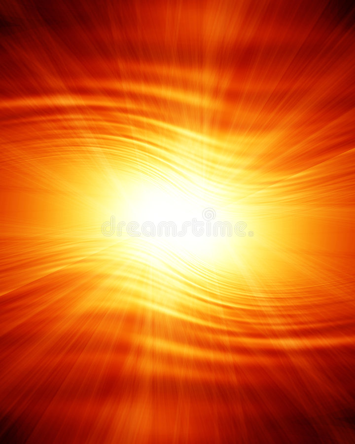 Coucher du soleil rougeoyant illustration de vecteur