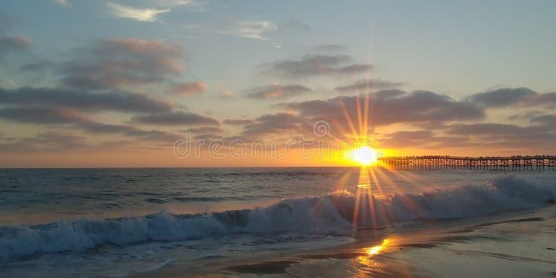 Coucher du soleil San Diego image stock