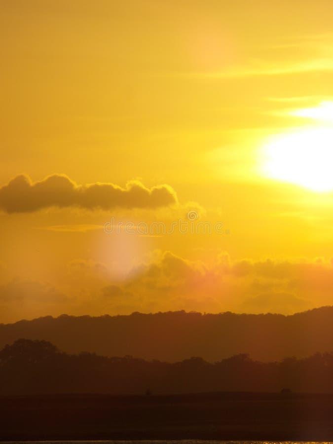 Coucher du soleil sauvage dans Sri Lanka photos stock