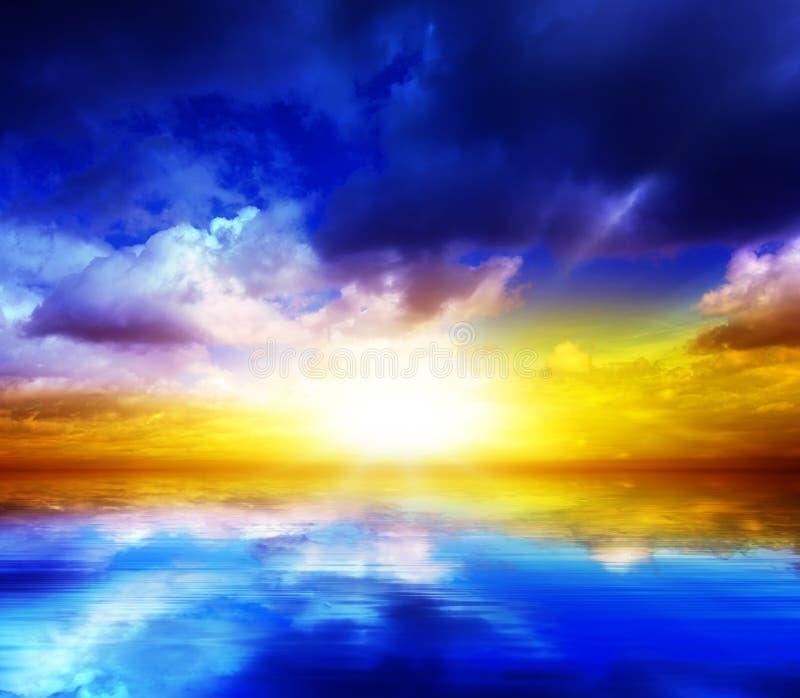 Coucher du soleil scénique images libres de droits