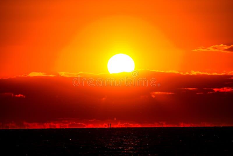 coucher du soleil Suède photos stock