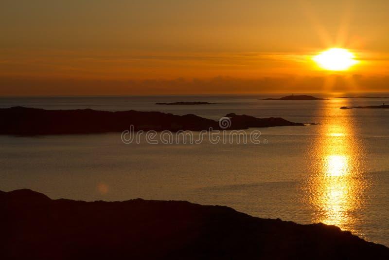 Coucher du soleil suédois images libres de droits