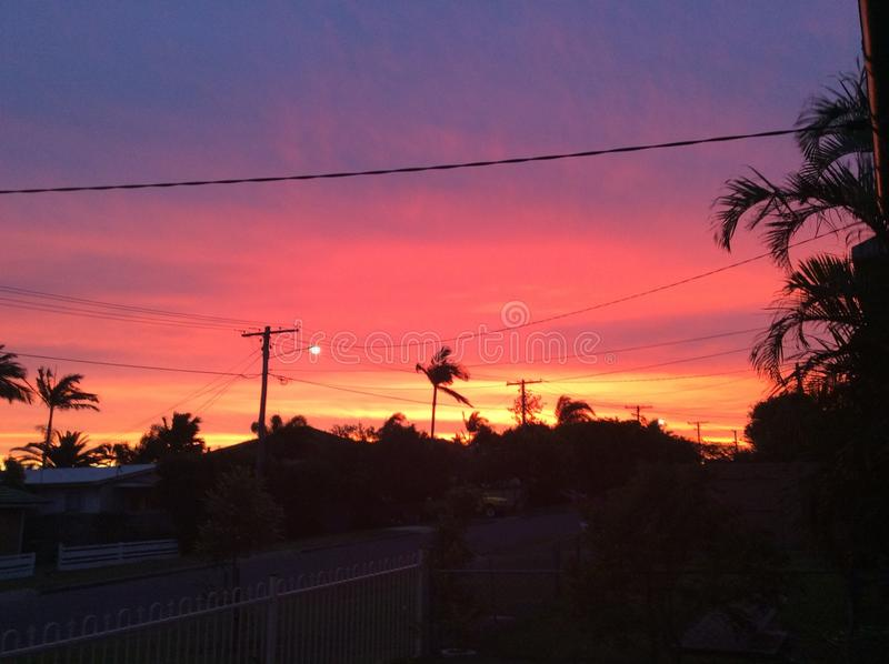 Coucher du soleil sur Cowen image libre de droits