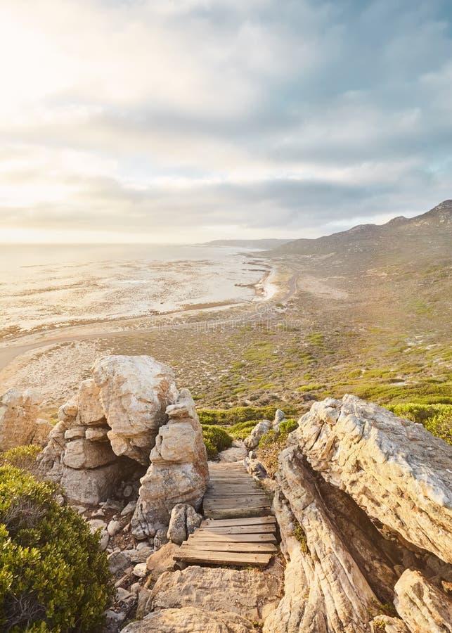 Coucher du soleil sur le Cap de Bonne-Espérance image libre de droits