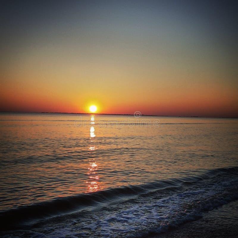 Coucher du soleil sur le fort Myers Beach photo libre de droits