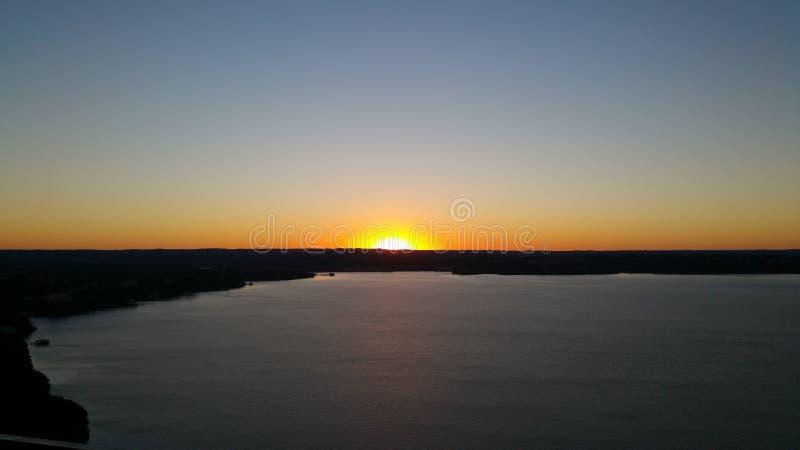 Coucher du soleil sur le lac turkey photographie stock