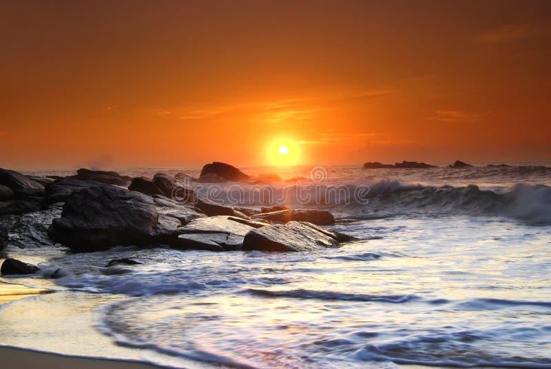 Coucher du soleil sur le Sri Lanka photos stock