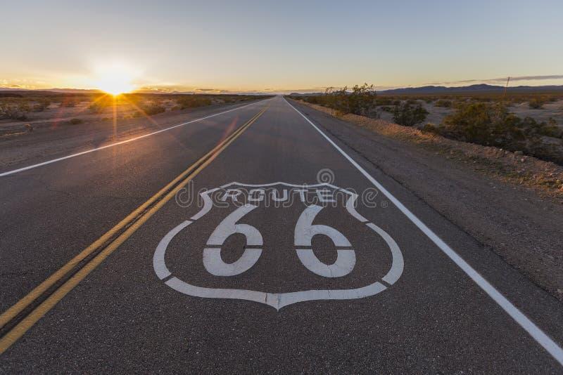 Coucher du soleil sur Route 66 photos stock