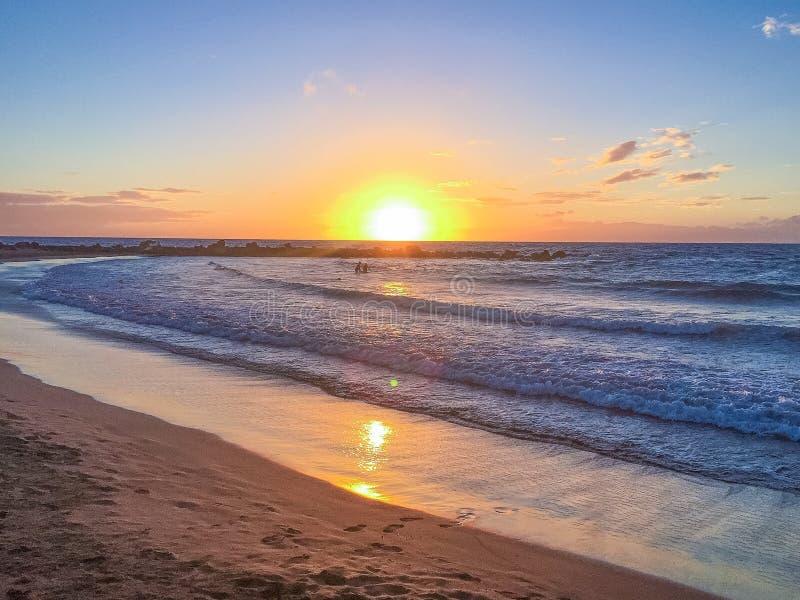 Coucher du soleil Ténérife images stock