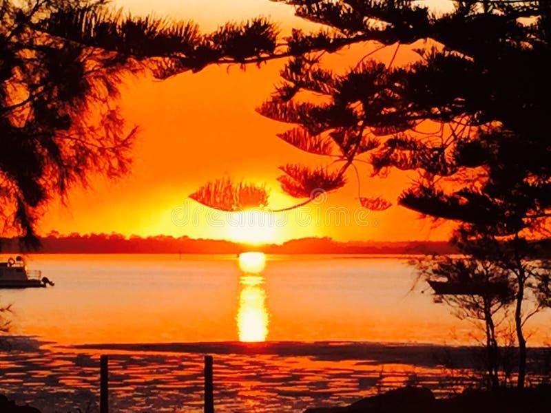 Coucher du soleil Taylors images libres de droits
