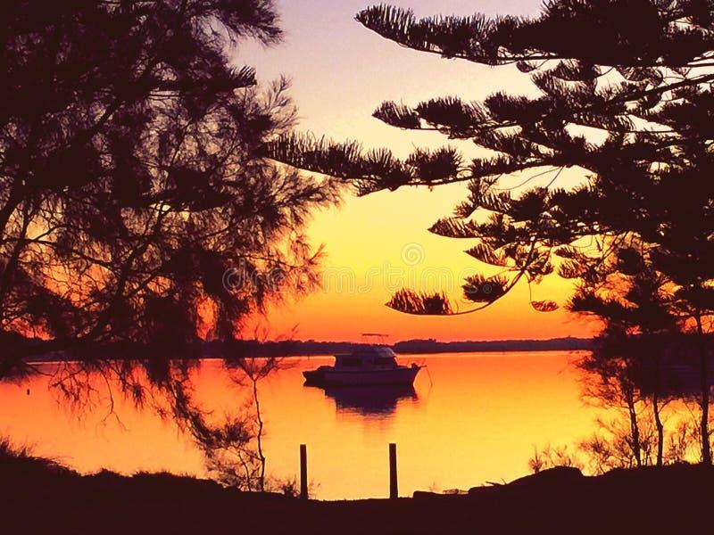 Coucher du soleil Taylors photographie stock