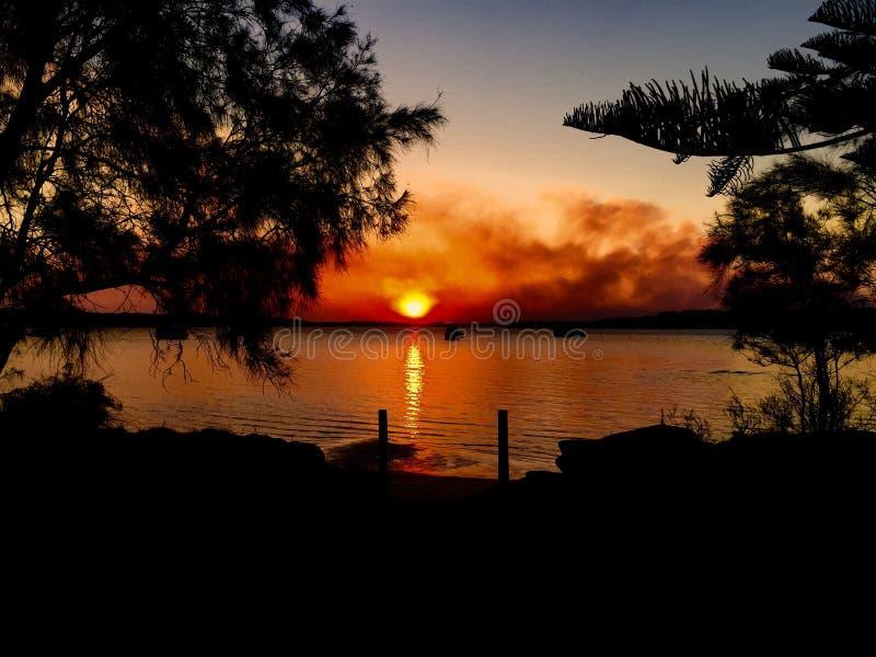 Coucher du soleil Taylors photos libres de droits
