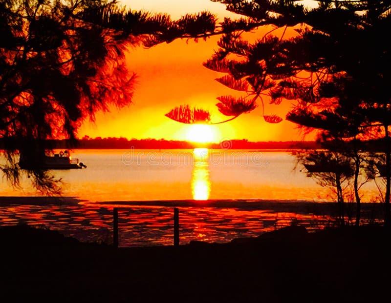Coucher du soleil Taylors image stock