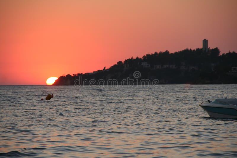 Coucher du soleil turc images stock